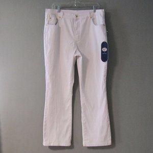 NWT DG2 Diane Gilman White Jeans Size 16
